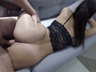 Claudia`s first creampie..