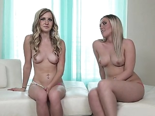 Slutty blonde duo