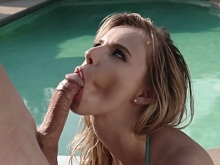 Poolside surprise anal