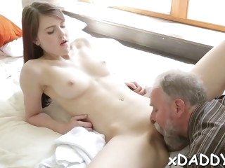 Teen fucked an elderly friend