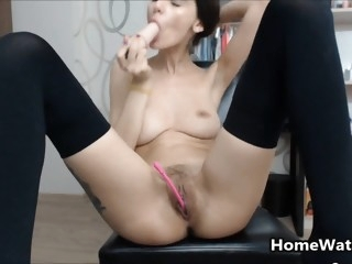 Stuffing My Tight Pussy With..