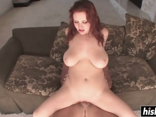 Amazing redhead sucks dick..
