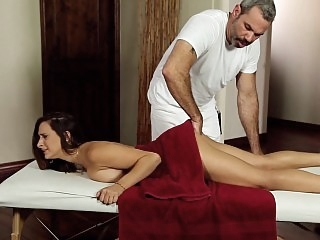 Her first time on a massage..