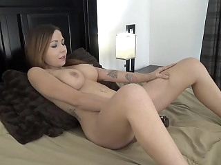 Dildo scene with an..
