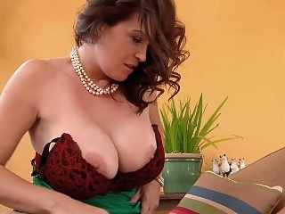 Horny MILF with big breasts..