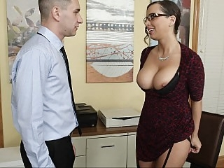 Naughty employee seduces..