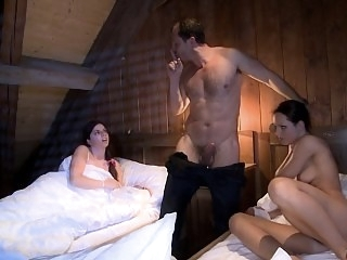 Exciting threesome sex with..