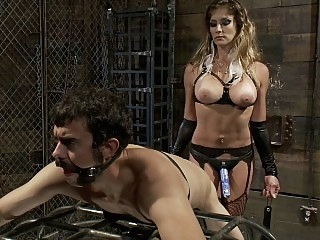 Strap-on female ready to..