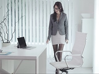 Naughty secretary having a..