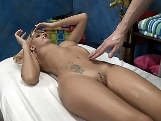 Massaging and pounding..