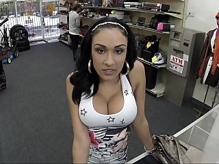 Horny Latina giving head for..