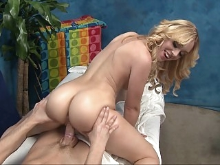 Blonde Lucy massaging with..