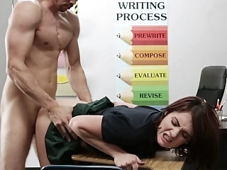 Redhead student gets fucked..