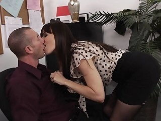 Dana Dearmond having office..