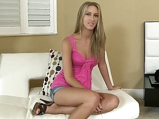 A tall slender blonde with..
