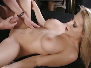 Big-tittied blonde horny..