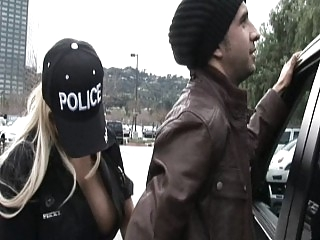 Busty Blonde Policewoman..
