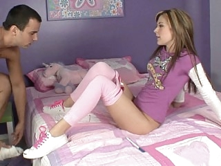 Cute teen gets hardcored in..